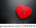 Heart shaped gift box 53806846