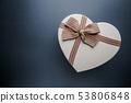 Heart shaped gift box 53806848