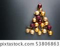 Christmas tree of balls 53806863
