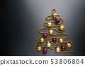 Christmas tree of balls 53806864
