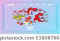 Dinosaurs world poster landing page vector illustration cartoon dinosaurs t-rex, tyrannosaurus 53808766