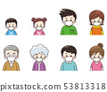 마스크를하는 가족 53813318