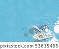 배경 소재 - 여름 이미지 - 일본식 모던 - 물방울 - 수초 - 하스 - 개구리 53815495