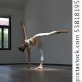 Asian chinese single woman practising Yoga low key 53818195
