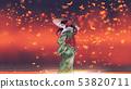 the kimono girl in fantasy place 53820711