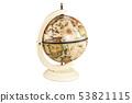 retro globe on white 53821115