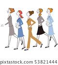 女公司員工並排設置 53821444