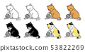 고양이, 벡터, 동물 53822269