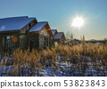 Snow on rural house 53823843