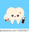 Sad unhealthy sick human tooth 53824827