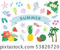 여름 일러스트 세트 53826720