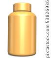 3D rendering Gold bottle mock-up. Gold Bottles  53826936