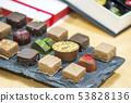 ช็อคโกแลตที่ทำด้วยมือวัสดุภาพวันวาเลนไทน์ 53828136