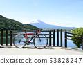 ride a bicycle in Mt Fuji kawaguchiko 53828247
