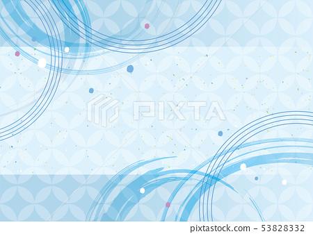 상쾌한 하늘색 일본식 패턴 53828332