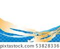 상쾌한 하늘색 일본식 패턴 53828336