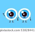 Cute healthy happy human eyeballs 53828441