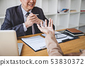 Job interview, Senior selection committee manager 53830372