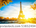 eiffel tour and from Trocadero, Paris 53832494