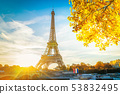 eiffel tour and from Trocadero, Paris 53832495