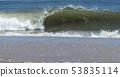 Atlantic ocean wave breaking on the shore 53835114