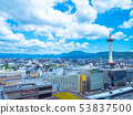 Kyoto Tower and the streets 53837500