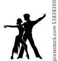 Salsa dancers silhouettes 53838360