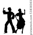 Rumba dancers silhouettes 53838363