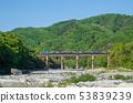 從下游的秩父荒川秩父鐵路鐵橋 53839239