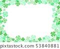 봄 녹색 클로버 배경 53840881