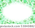 봄 녹색 클로버 배경 53840882