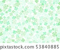 봄 녹색 클로버 배경 53840885