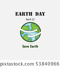Earth Day April 22 with globe cute character.Earth 53840966
