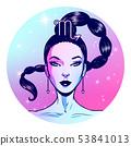 Scorpio zodiac sign artwork, girl horoscope 53841013