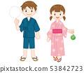 Yukata male and female 53842723