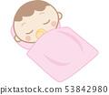 Baby sleeps 53842980