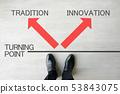 비즈니스 이미지 - 전통 또는 혁신 또는 53843075