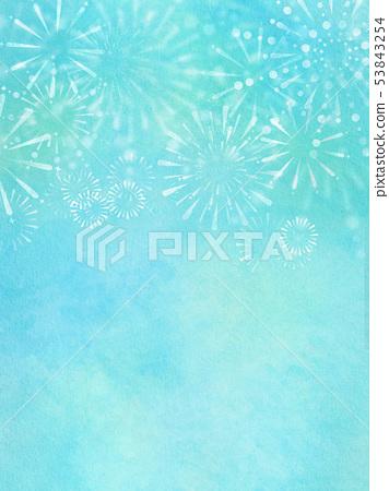 배경 - 일본 - 일본식 - 일본식 디자인 - 종이 - 여름 - 불꽃 놀이 53843254