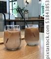Ice caffe latte 53843853