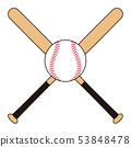 Baseball bat and ball Baseball bat Baseball ball illustration 53848478