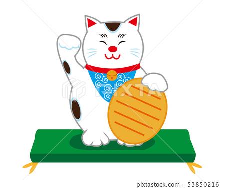 Cat beckoning cat cushion 53850216