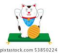 Cat beckoning cat cushion 53850224
