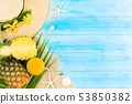 Refreshing tropical pineapple juice for summer 53850382
