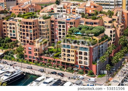 Fontvielle Harbour, Monaco, on the French Riviera 53851506