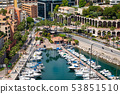 Fontvielle Harbour, Monaco, on the French Riviera 53851510