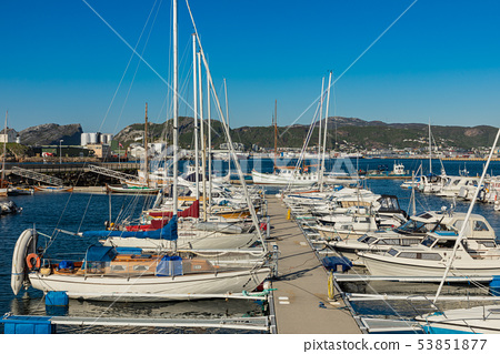 View of the marina and sailing boats. Yacht port. 53851877