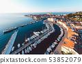 Aerial panorama of Slovenian city Piran 53852079
