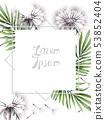 Dandelion card Vector watercolor. Summer floral 53852404