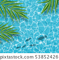 Blue water Vector realistic. Summer sea party 53852426