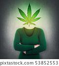 marijuana leaf symbol instead head 53852553